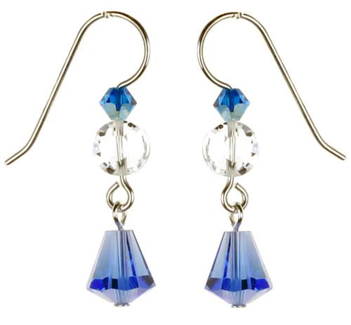 Blue Crystal Earrings by Karen Curtis NYC