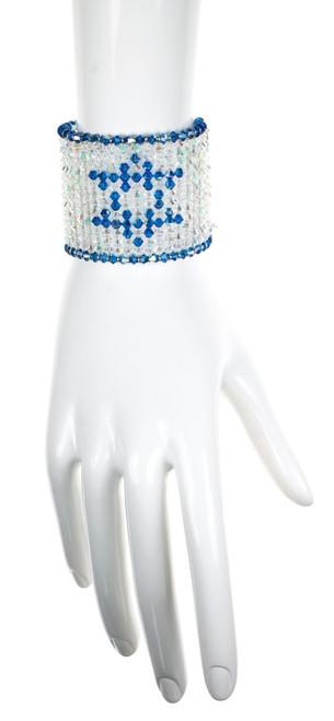 Limited edition Israeli Flag Crystal Bracelet. Made with Swarovski
