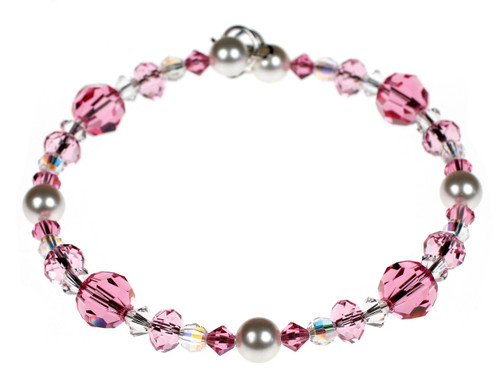 Beautiful Pink Crystal Bracelet by Karen Curtis NYC