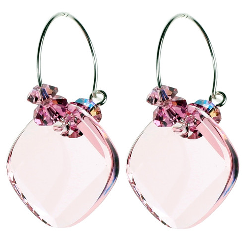 pink hoop earrings for october birthstone jewelry