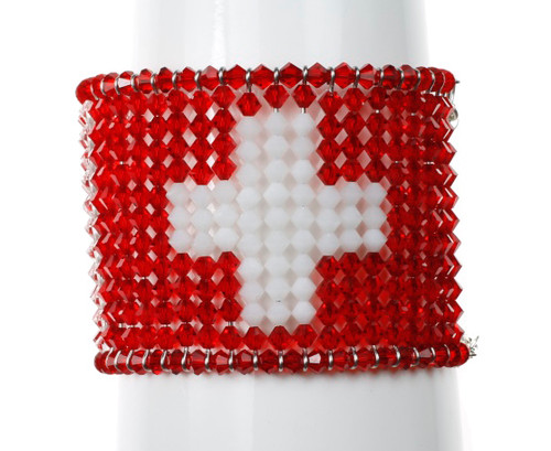 The flag of Switzerland cuff bracelet