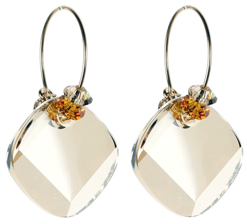 Topaz November Birthstone Earrings