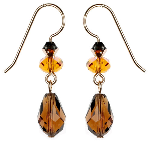 Smokey Topaz Earrings by Karen Curtis