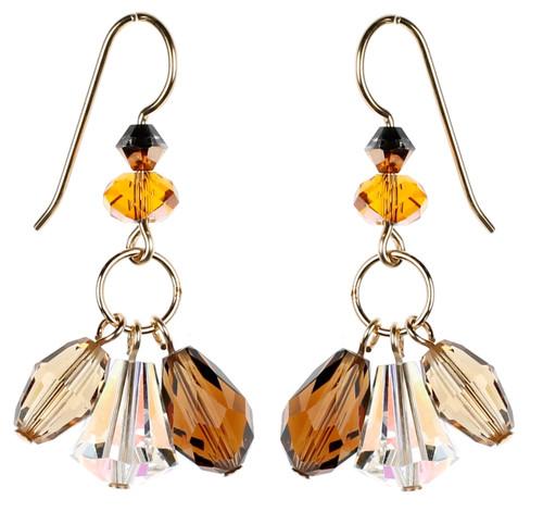Topaz Triple Drop Earrings by Karen Curtis NYC