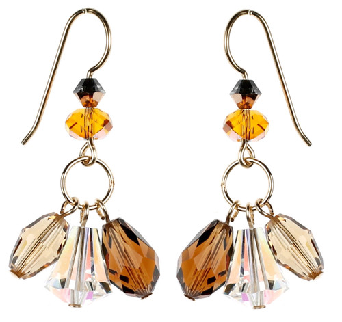 Topaz Triple Drop Earrings by Karen Curtis NYC