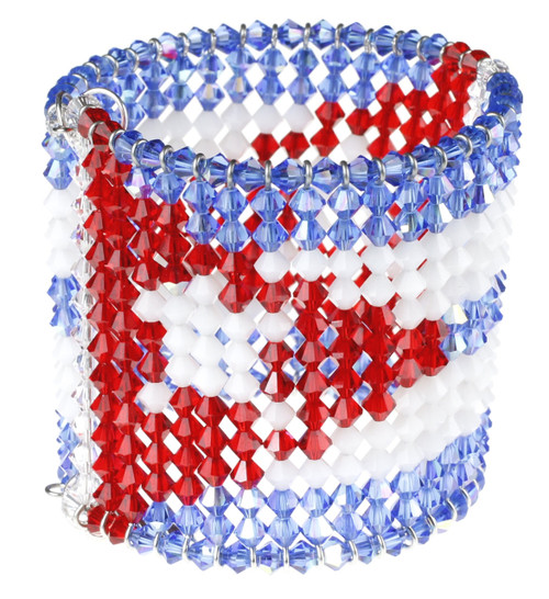 Cuban Flag Bracelet made with over 500 Crystals from Swarovski