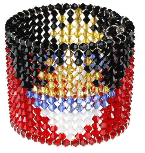Antigua Cuff Bracelet made with over 500 Crystals from Swarovski
