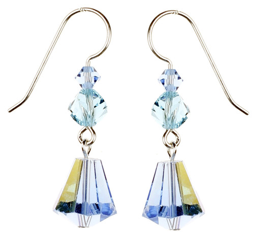 Amazing Blue Crystal Earrings by Karen Curtis NYC