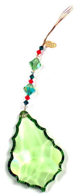 STRASS Swarovski Christmas Leaf Ornament / Sun Catcher