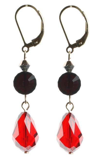 Vintage Crystal from Swarovski hand made Dangle Earrings by NYC Jewelry Designer Karen Curtis.