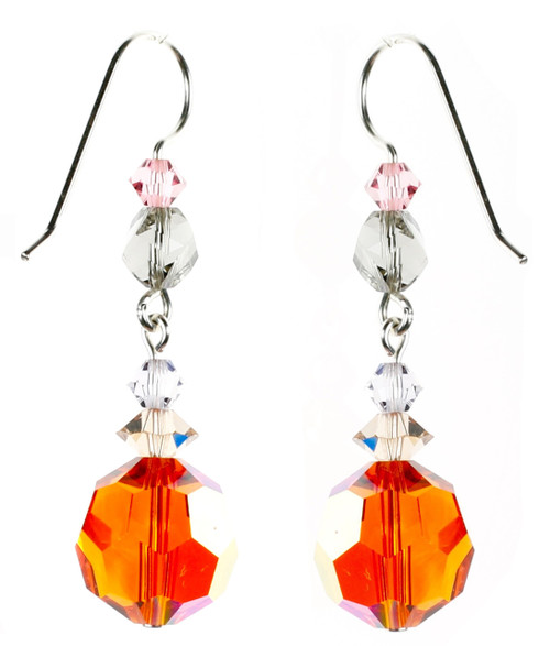 Orange Tangerine Dangle Earrings