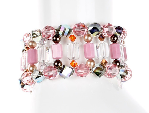 cuff bracelet with rare swarovski crystal