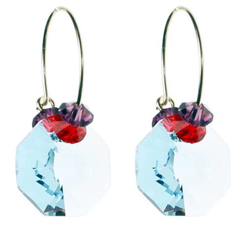 Light Blue Hoop Earrings • Tiffany Collection