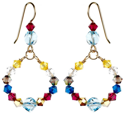 Small Colorful Loop Earrings - Tiffany