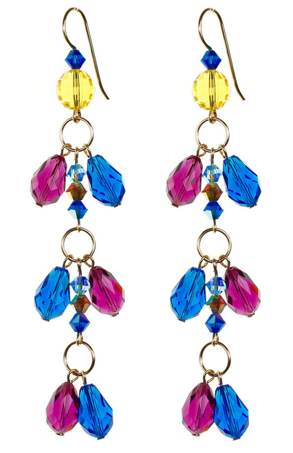 Blue Shoulder Duster Earrings - Tiffany