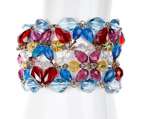 Colorful Statement Crystal Bracelet - Tiffany