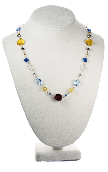 Colorful Single Strand Necklace - Tiffany