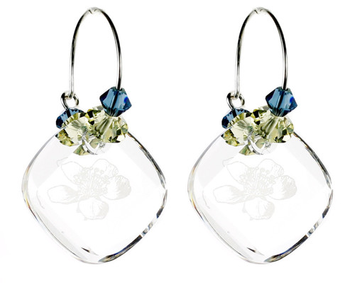 Crystal Hoop Earrings - Botanical