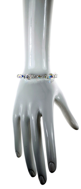 Clear Crystal Bangle Bracelet - Crystal Collection