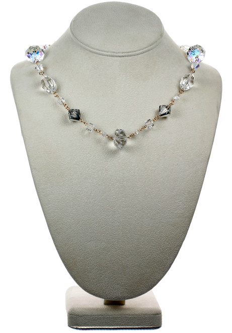 "14k Gold Filled Swarovski Crystal 18"" Classic Chunky Necklace - Crystal Collection"