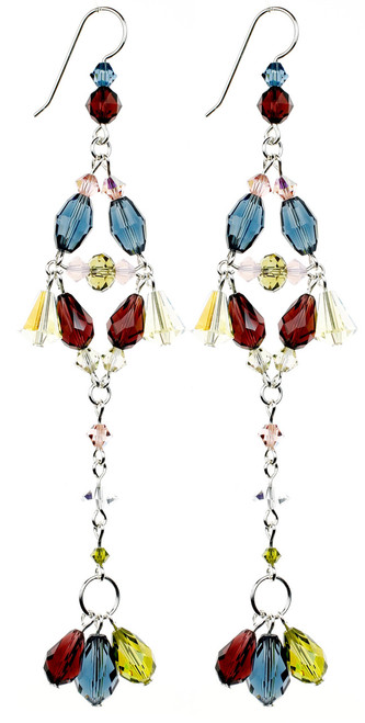 Long Elegant Colorful Earrings - Botanical