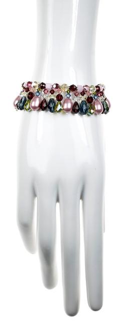 Swarovski Crystal & Sterling Silver Martini Statement Bracelet - Botanical