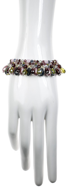 Colorful Statement Bracelet - Botanical Jewelry