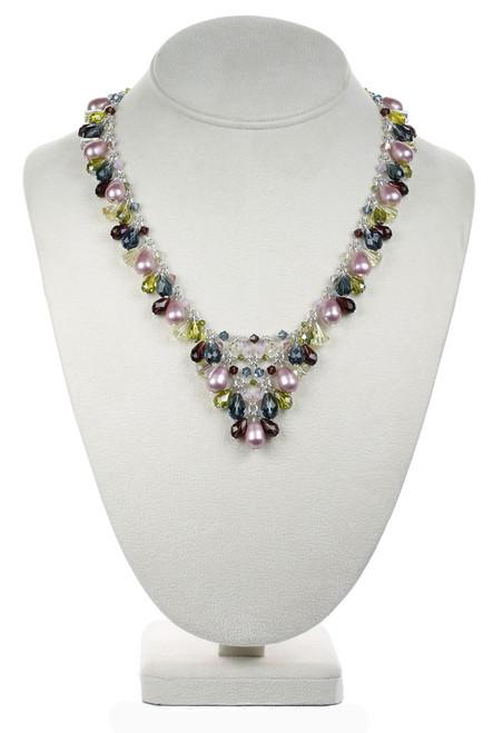 Crystal V Necklace - Botanical Jewelry