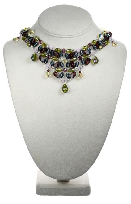 Full Size Crystal V Necklace - Botanical Jewelry