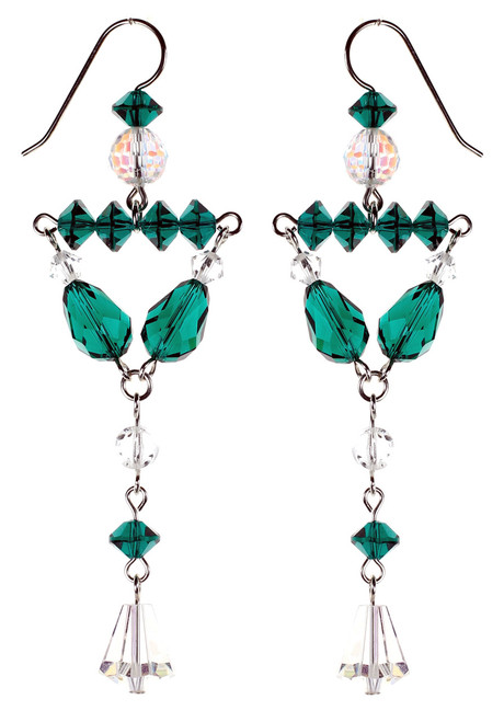 Emerald Green Divine Earrings - May Birthstone