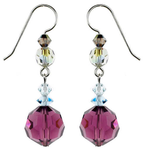 Purple Amethyst Earrings - Seaside Jewelry Collection