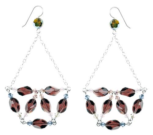 Botanical Chandelier Earrings w. Sterling Chain
