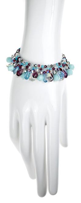 Handmade Crystal Bracelet using Rare and Vintage Swarovski Crystal and Sterling Silver
