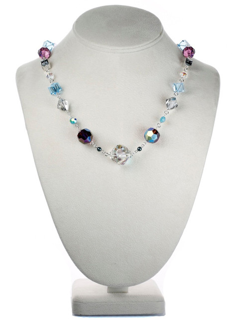 Vintage Crystal Necklace made with Sterling Silver by Karen Curtis NYC