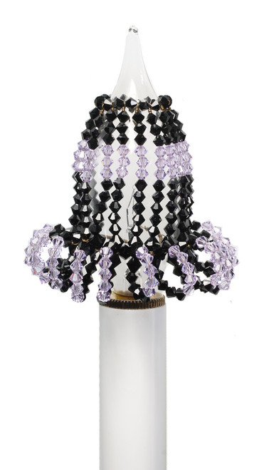 Crystal Chandelier Light Bulb Covers - Black & Purple