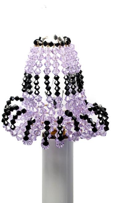 Candelabra Light Bulb Covers - Violet & Black