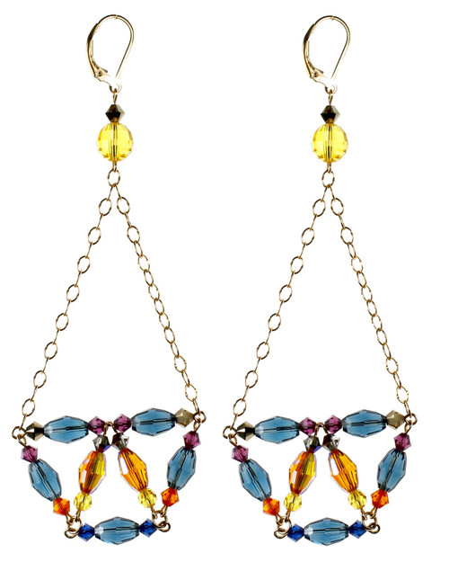Chandelier Earrings - City Nights