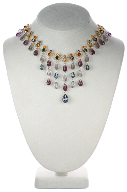beautiful crystal necklace with swarovski crystal.