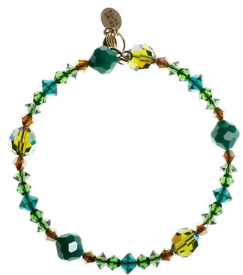 Green Bangle Stackable Bracelet