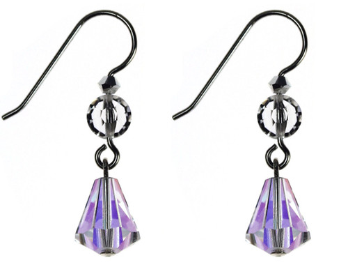 Bridal single drop earrings made with SWAROVSKI ELEMENTS and sterling silver