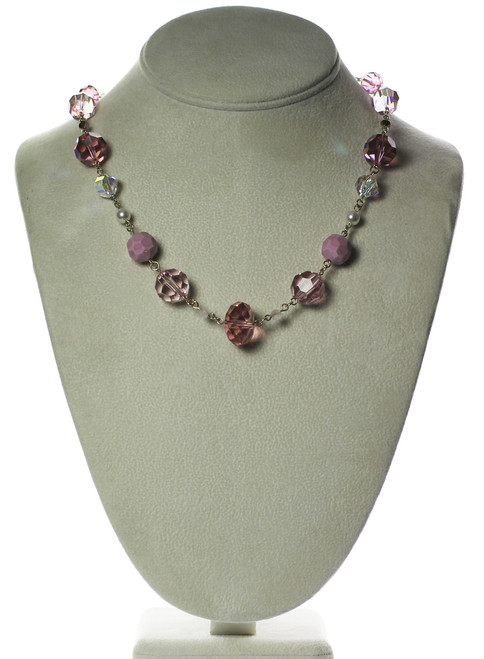 Large pink Crystal necklace