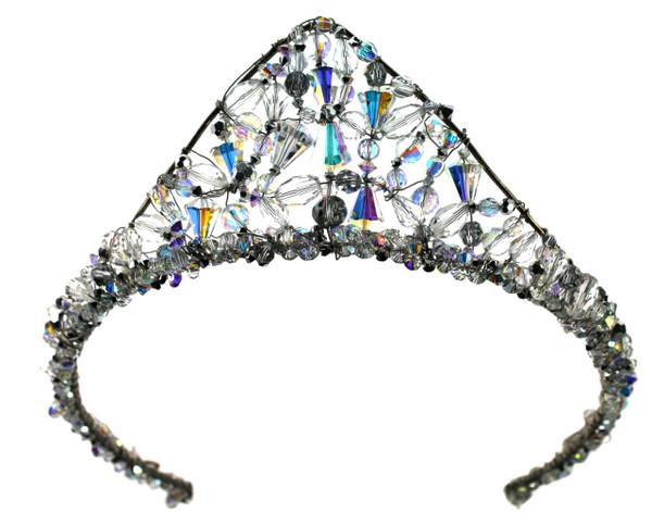Rare vintage SWAROVSKI crystals are woven with sterling silver to create a spectacular display of color and sparkle on your wedding day