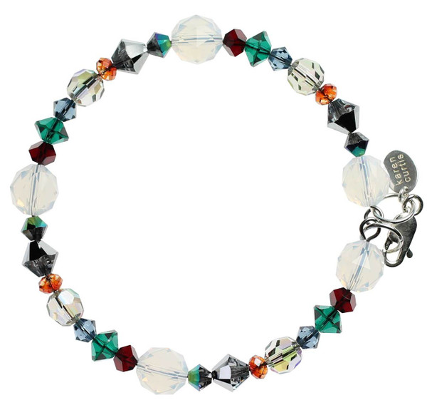 Christmas in July bangle bracelet