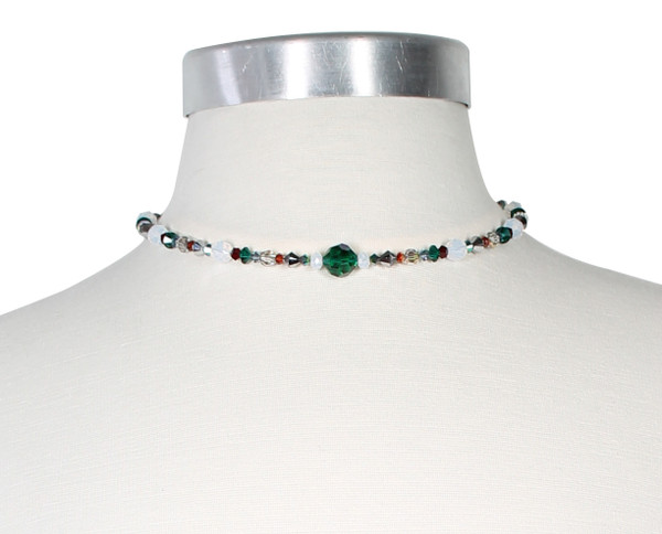 Swarovski Crystal Multi Colored Choker finished with Sterling Silver • Vanguard