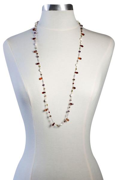 "One of a Kind 14K gold filled 36"" wire wrapped Swarovski Crystal Necklace • Incorporate Vintage Swarovski • Bohemian Chic"