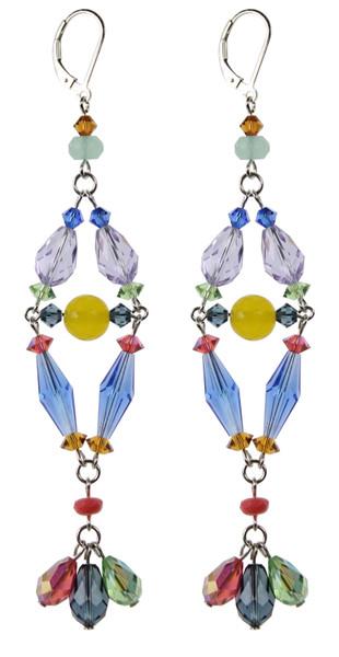 Long shoulder duster crystal earrings