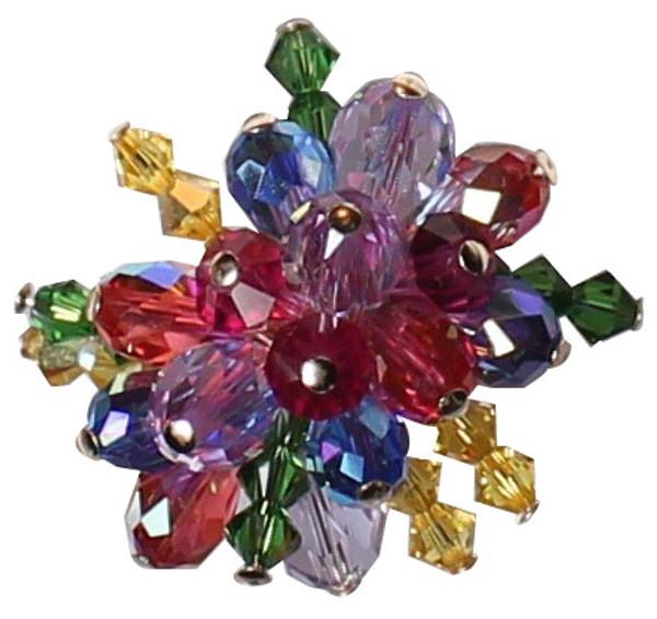 14K gold filled Swarovski Crystal Cocktail Ring • Confectionery