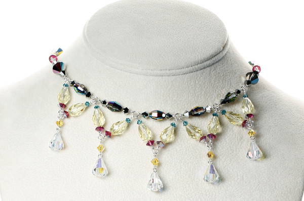 Sterling Silver Swarovski Crystal Signature Divine Style Necklace - Carnival