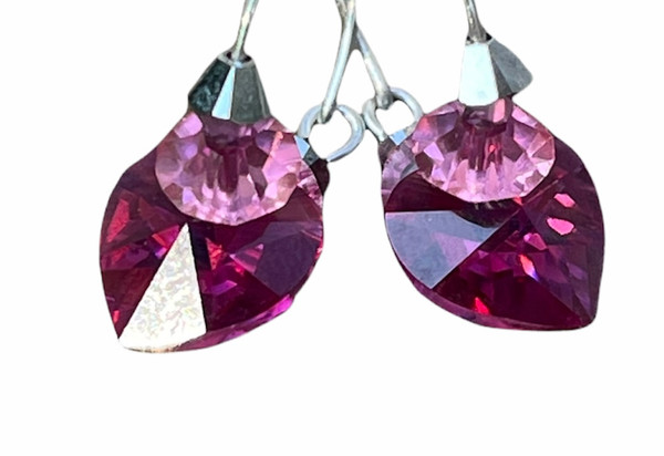 Pink Stackable Hoop earrings by Karen Curtis NYC