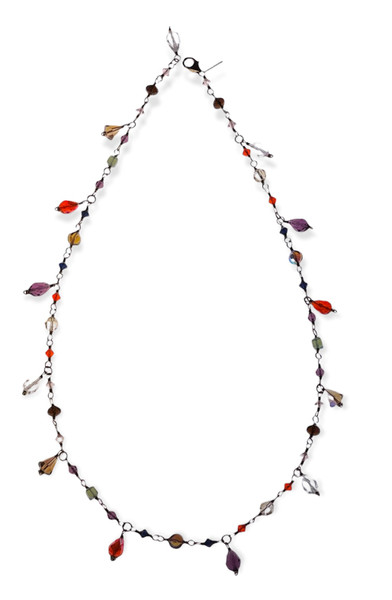 Swarovski Crystal 14k Gold Filled Versatile Necklace - Wear it 3 Ways - Glam Rock